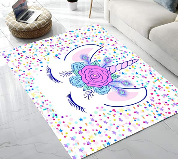 Area Rug Stars Unicorn Area Rug