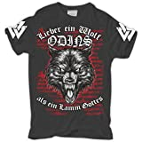 Männer und Herren T-Shirt Wolf Odins