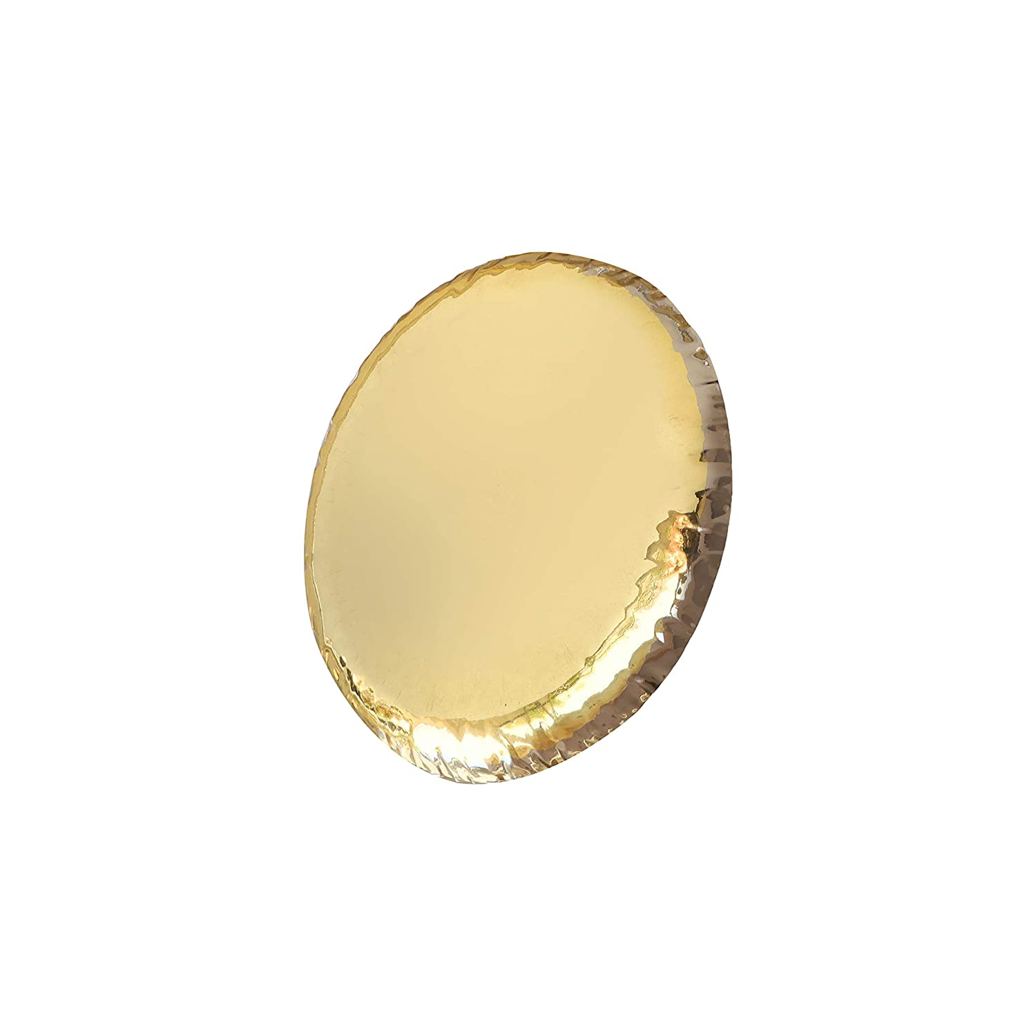 Inches De Kulture Hand Made Pure Brass Wrinkled Feather Light Plate 6.5 x 0.5 DH For Serving Home D/écor Tableware