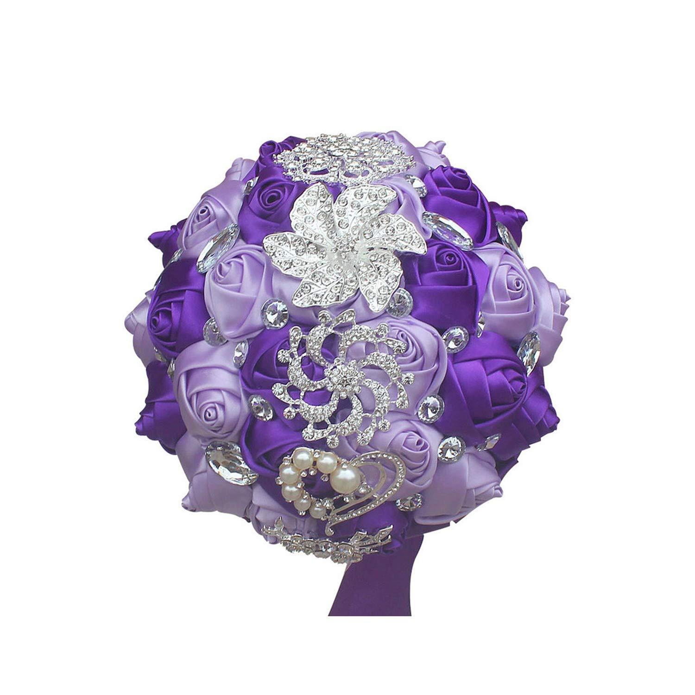 Amazon.com: BB-4 - Ramo de flores artificiales de boda hecho ...