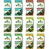 gimMe Organic Roasted Seaweed Sheets - 6 Flavor Variety Pack - 12 Count - Keto, Vegan, Gluten Free - Great Source of Iodine a