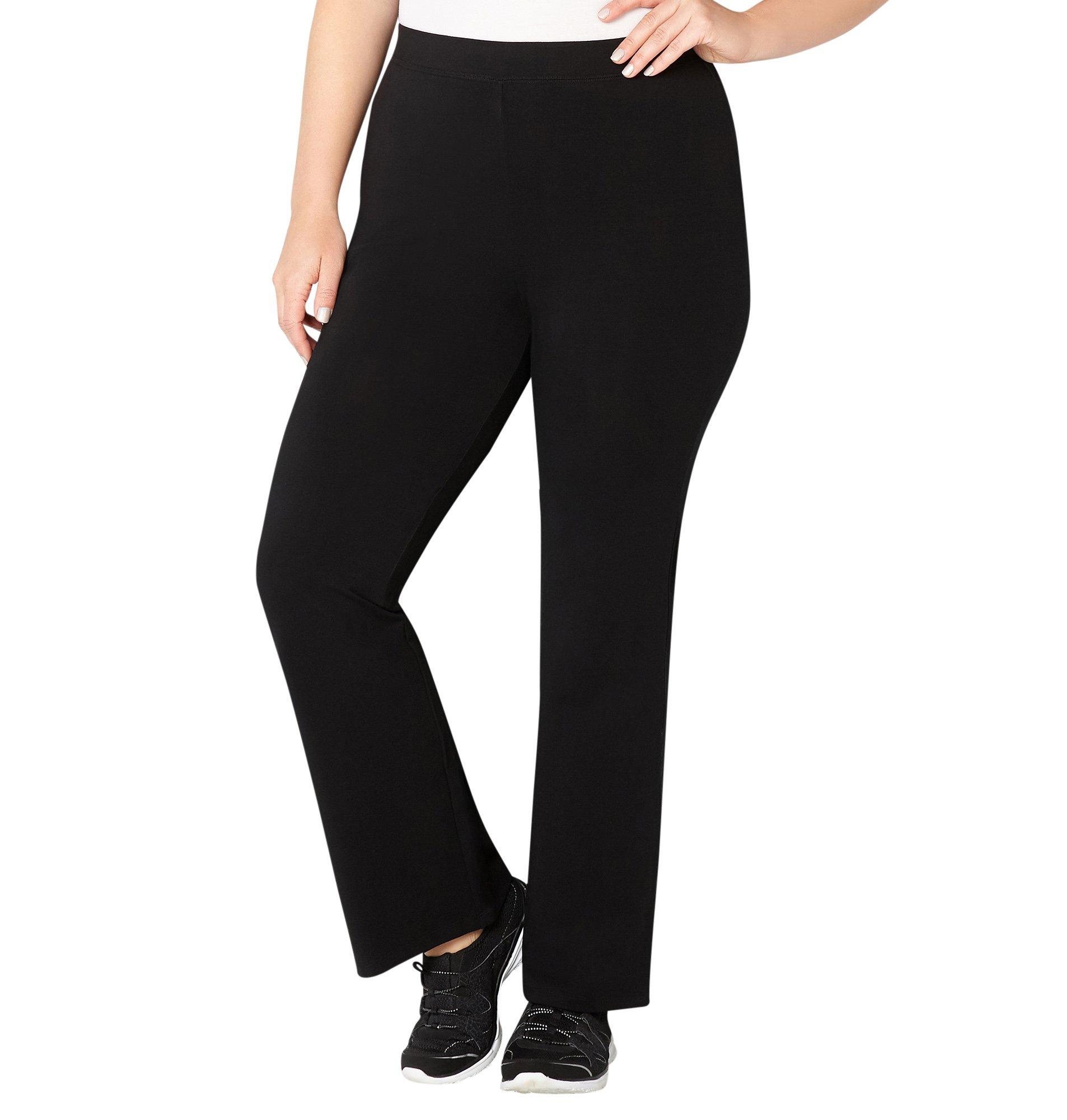 Avenue Women's Pima Cotton Bootcut Pant, 26/28 Black