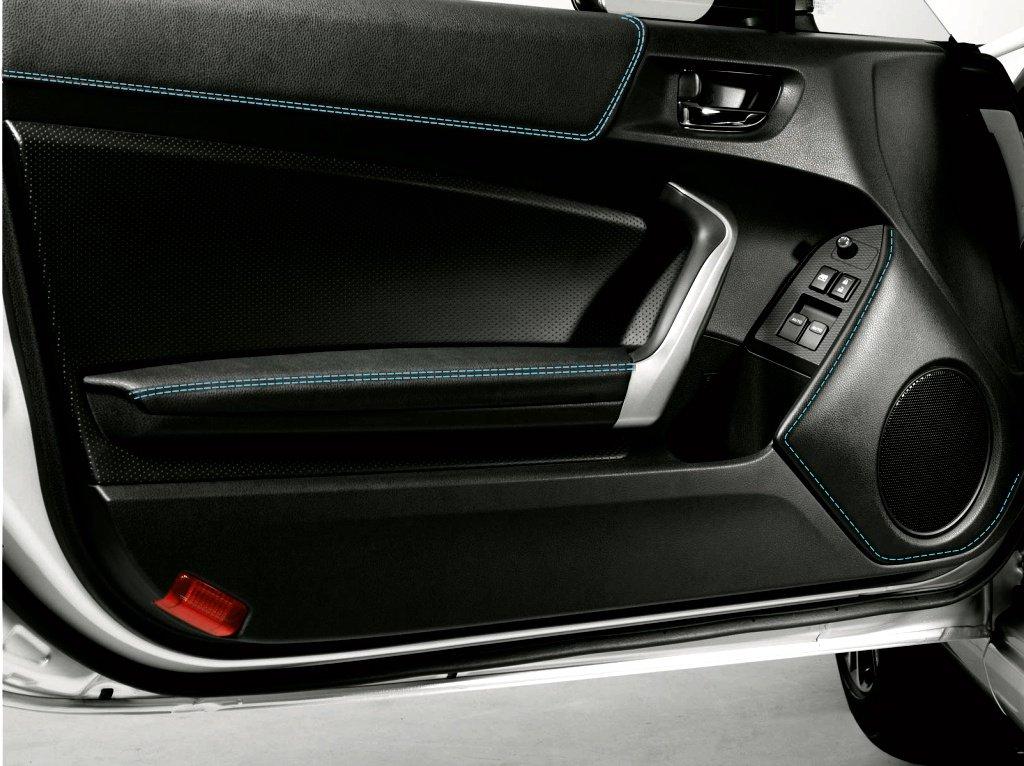 Toyota gt86 2012 – 17ドアスピーカーベゼルカバーby RedlineGoods GT86speakerBL-BLUE B074X757NC Black leather-Blue thread Black leatherBlue thread
