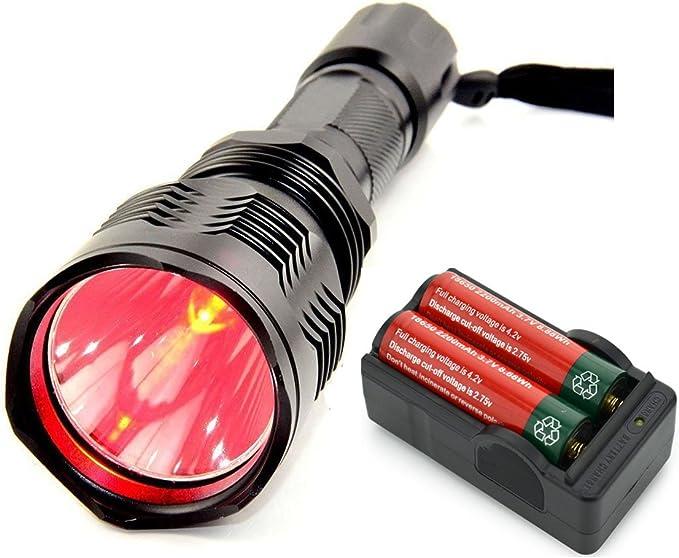 BESTSUN Brightest Waterproof Red Light Flashlight HS-802 - Best All-Weather Flashlight