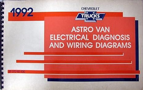 amazon com 1992 chevrolet astro van electrical diagnosis wiring rh amazon com 1998 Chevy Van Wiring Diagram Wiring Diagram Symbols