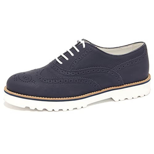 4089Q scarpa donna HOGAN ROUTE FRANCESINA blu shoe woman