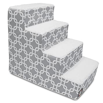 Amazing 4 Step Portable Pet Stairs By Majestic Pet Products Gray Links Steps For  Cats And Dogs