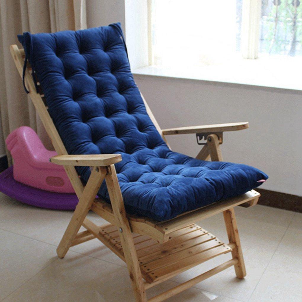 rxin Backクッションシート椅子パッドforベンチクッションソファ枕臀部椅子マットパッドコットンソファシートクッション椅子パッドマット ブルー QTS  ブルー B07G4GL8XX