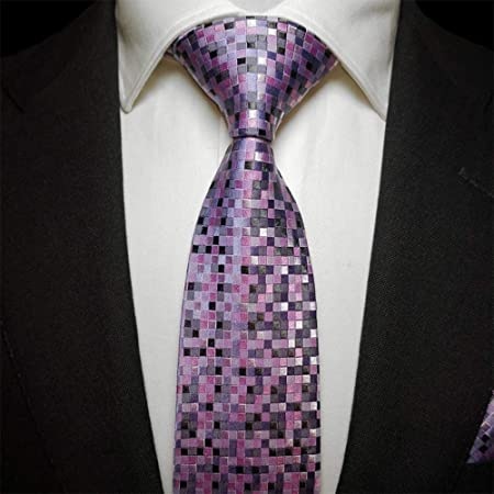 GuanBen Corbata para Hombre, patrón de Seda de Mosaico Violeta ...