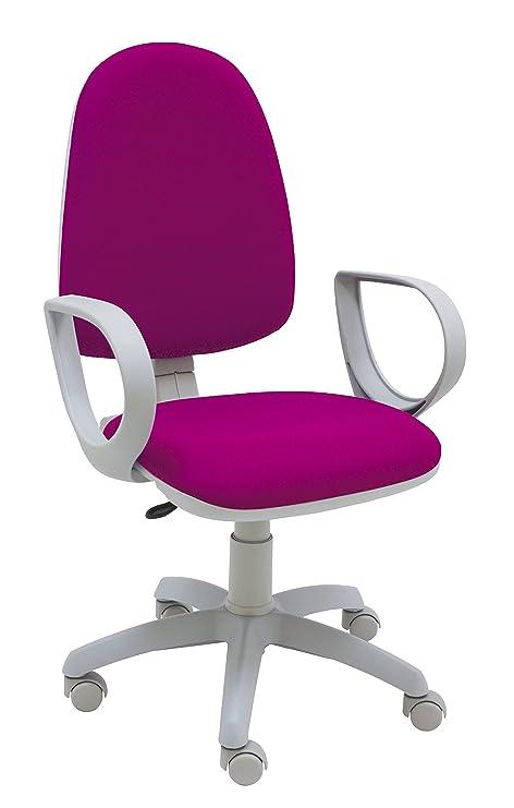 Centrosilla Silla giratoria de Escritorio Torino Gris ergonómica para Oficina y hogar Color con Brazos y