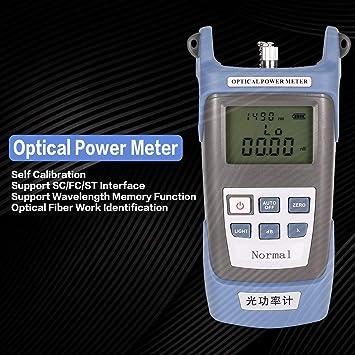 Cable óptico de Fibra óptica de Mano FTTH medidor de Potencia Fibra óptica Probador de Redes FC/SC Conectores -70 ~ + 20dBm: Amazon.es: Electrónica