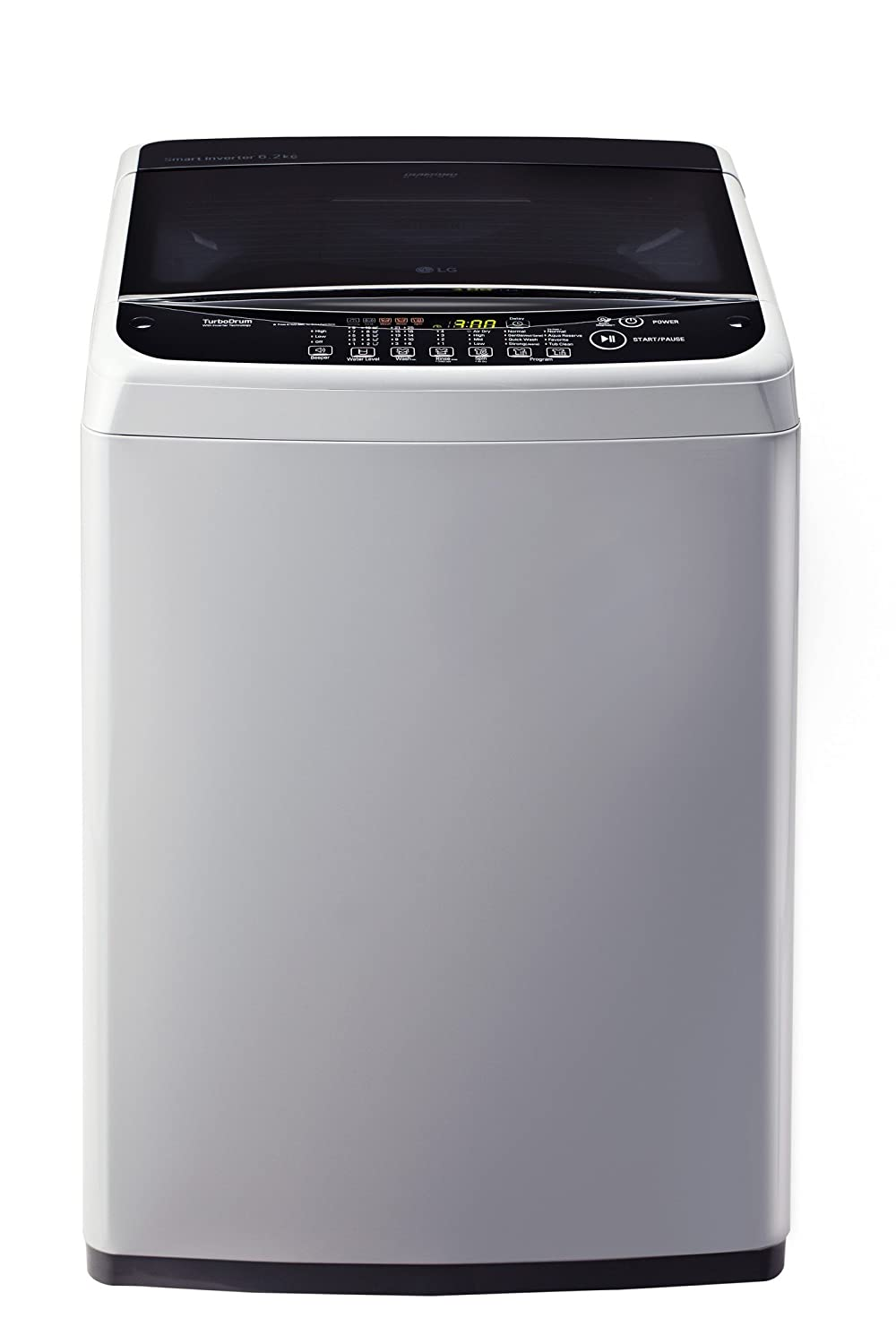 LG 6.2 kg Inverter Fully-Automatic Top Loading Washing Machine (T7281NDDLG, Middle Free Silver)
