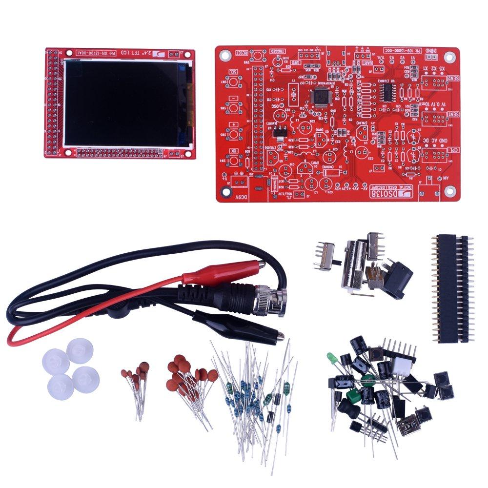 kuman 3O-IUX5-O0TZ DSO 138 DIY Kit Open Source 2.4'' TFT 1MSPS Digital Oscilloscope Kit with DIY Parts + Probe 13803K, SMD pre-soldered by kuman