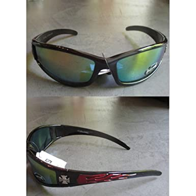 hotrodspirit - lunette de soleil choppers croix malte flamming rouge or e29TlUVfOl