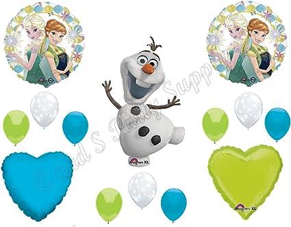 Amazon.com: Frozen Fever Olaf Feliz cumpleaños Globos ...