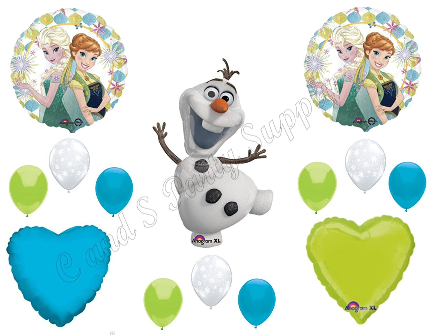 Amazon FROZEN FEVER Olaf Happy Birthday Balloons Decoration Supplies Summer Elsa Anna By Anagram Toys Games