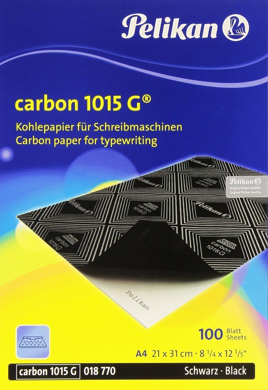 Pelikan 1015g nero carta carbone per macchina da scrivere–Confezione da 100fogli