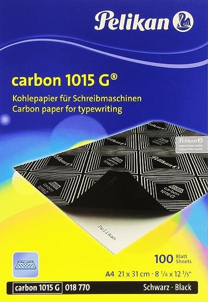 Pelikan 1015 G Negro Papel carbón para máquina de escribir – Caja de 100 hojas