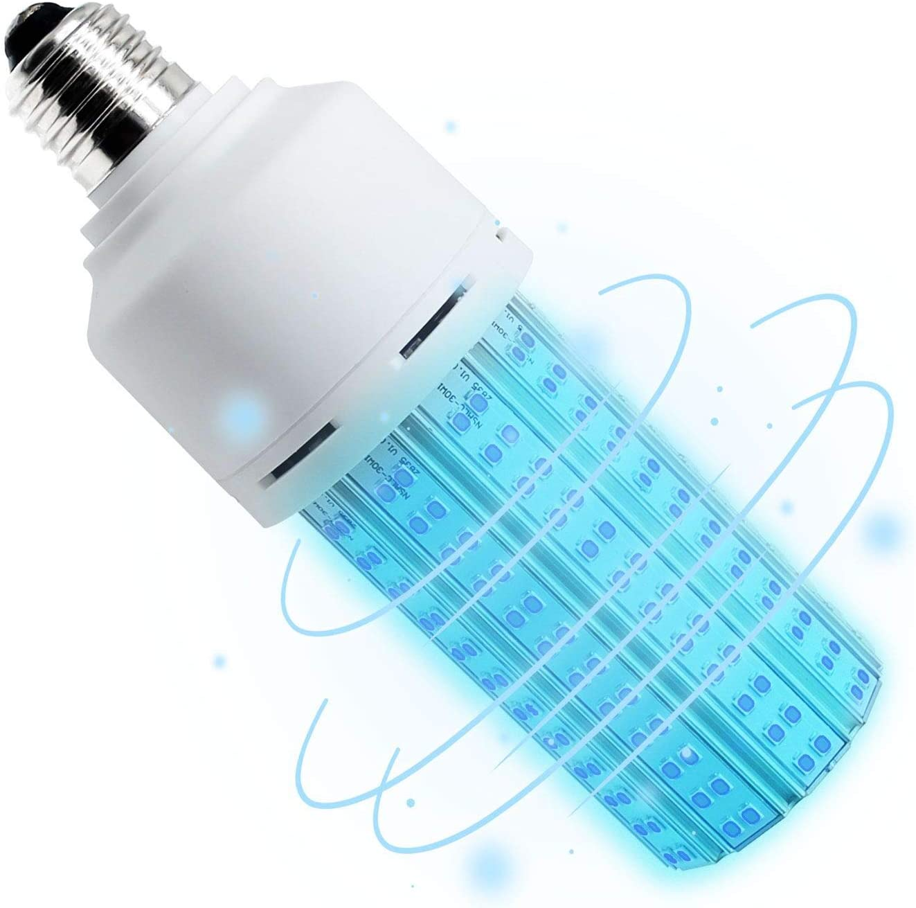 Not Remote Control 2020 Newest 60W UV Germicidal Lamp Led UVC Light Bulb E26 Timer 30 min 1 Hour Suitable for Home Warehouse