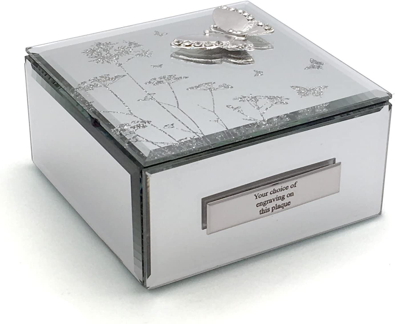 Personalised Any Age Luxury Mirrored Jewellery Trinket Box Birthday Gift