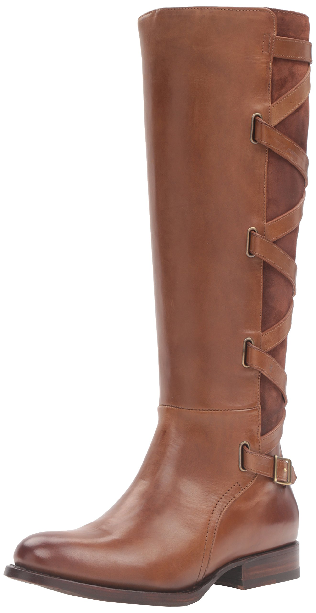 FRYE Women's Jordan Strappy Tall Riding Boot, Wood, 6.5 M US
