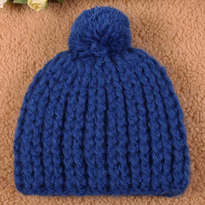 0d63765fdfc Super Warm Winter Thick Chunky Knit Snappy Beanie Cap Hat (Blue)   Amazon.ca  Sports   Outdoors