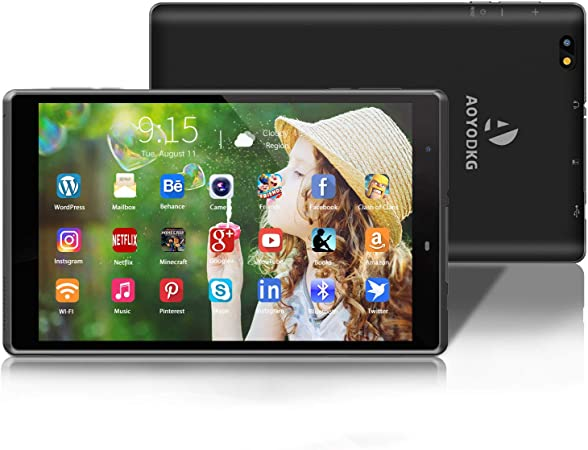 Tablet 8 Pulgadas Android 10.0 Tablets con 3GB RAM + 32GB ROM/128GB - WiFi | Bluetooth | 5000mAH,800 * 1280 IPS-Negro