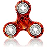 VIKYLIN Camouflage Fidget Spinners Cool Hand Tri-Spinner Toy Camo Hand Figit Spinner (Flame Red)