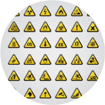 alfombrilla de ratón signos, pictogramas, seguridad, peligro ...