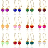 Kiwi Kreation 12 Pairs Multicolor Glass Beads Earrings for Women