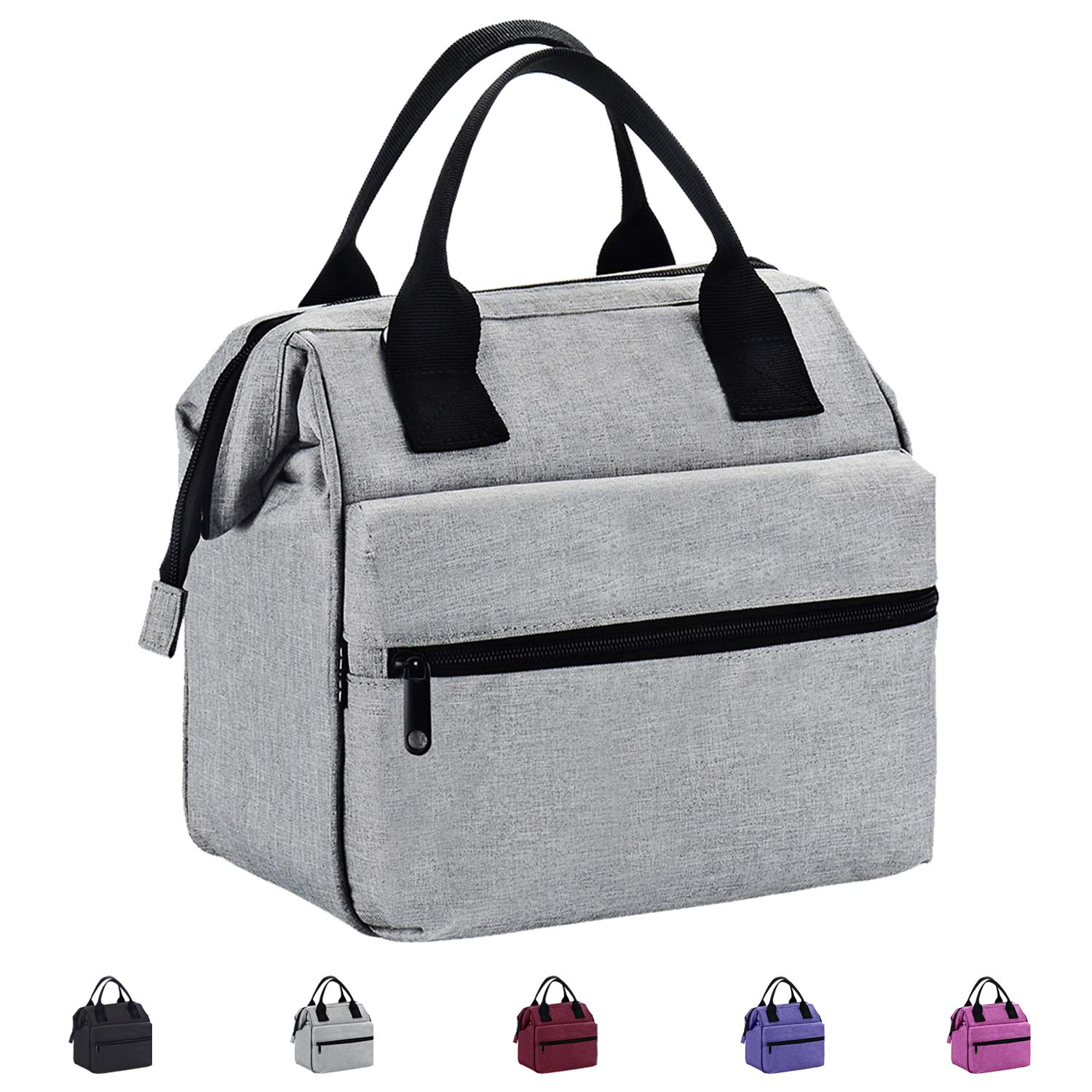 Srise Lunch Box Insulated Lunch Bag For Men &Women Meal Prep Lunch Tote Boxes For Kids & Adults(Black)