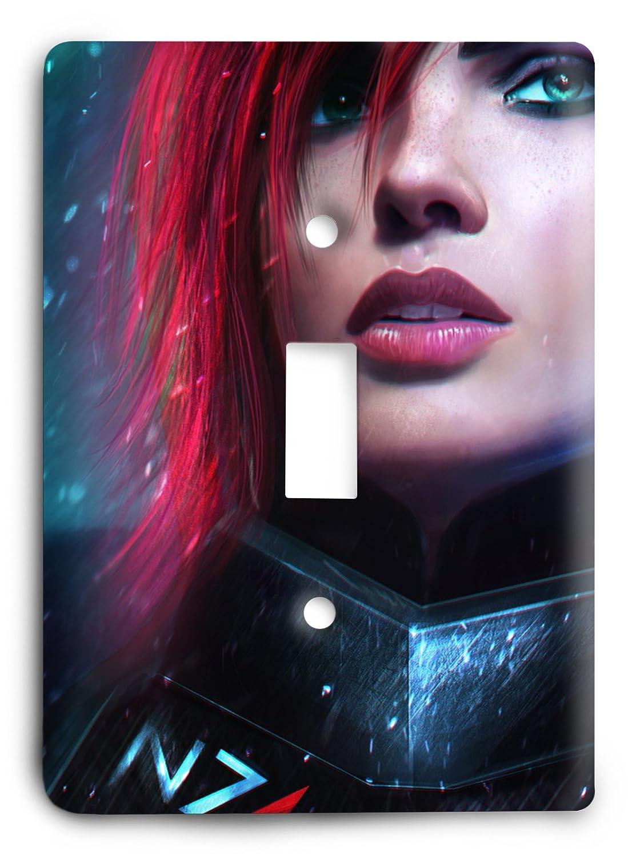 Commander Shepard Mass Effect Light Switch Cover