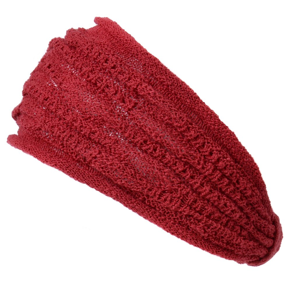 Casualbox Mens Mesh Fabric Headband Hair Band Accessory Unisex Red headwraps-headwear