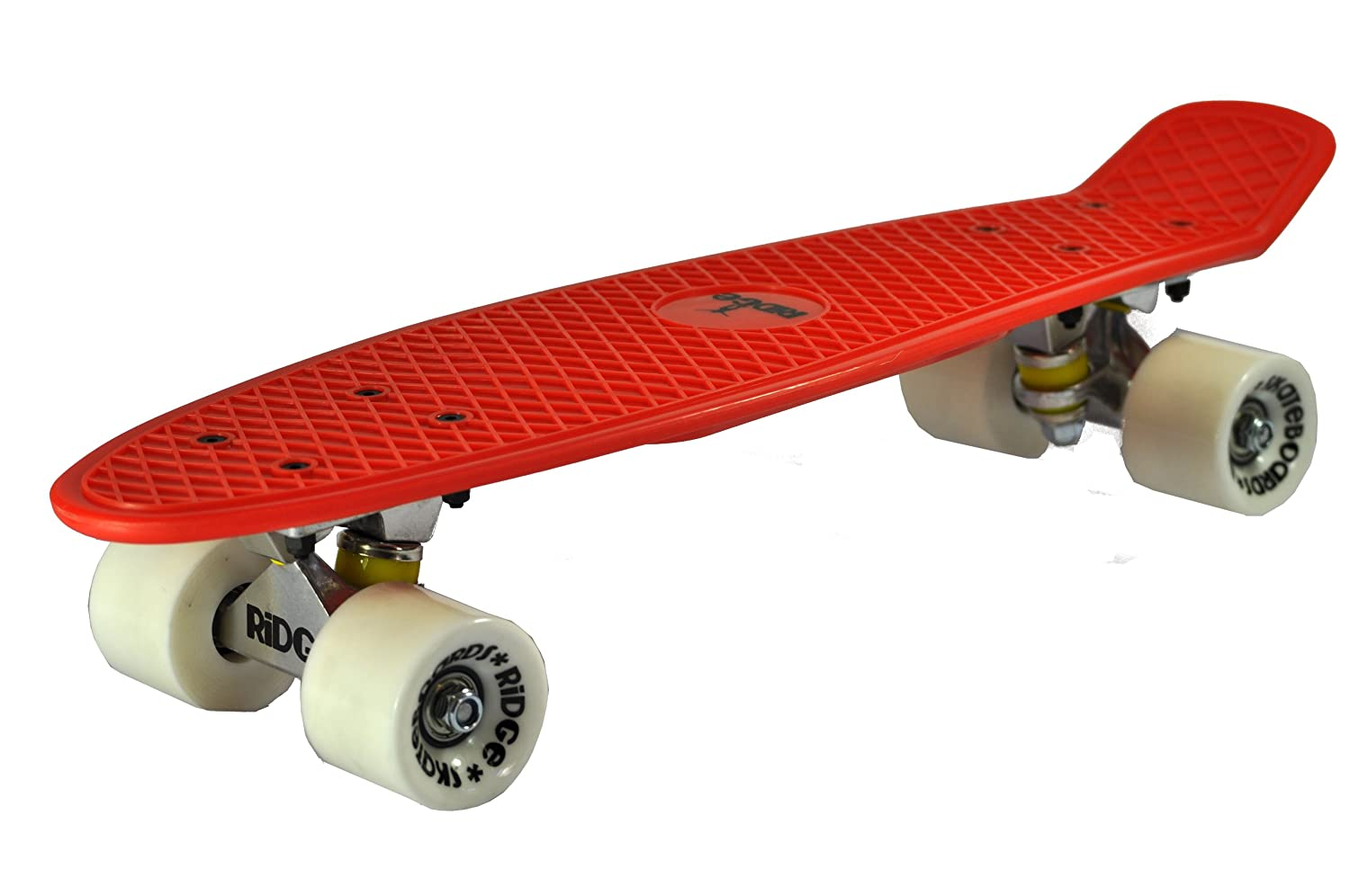 Ridge Original Retro Cruiser Skateboard, Unisex, Rojo/Blanco, 58 cm: Amazon.es: Deportes y aire libre