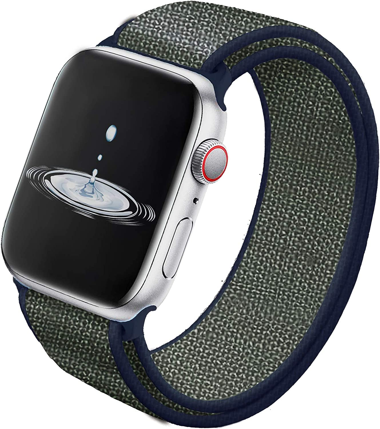 HooQer Watch Band Compatible with for Apple Watch Band 38mm 40mm 42mm 44mm Soft Lightweight Breathable Nylon Replacement Band for Watch Series 5 4 3 2 1