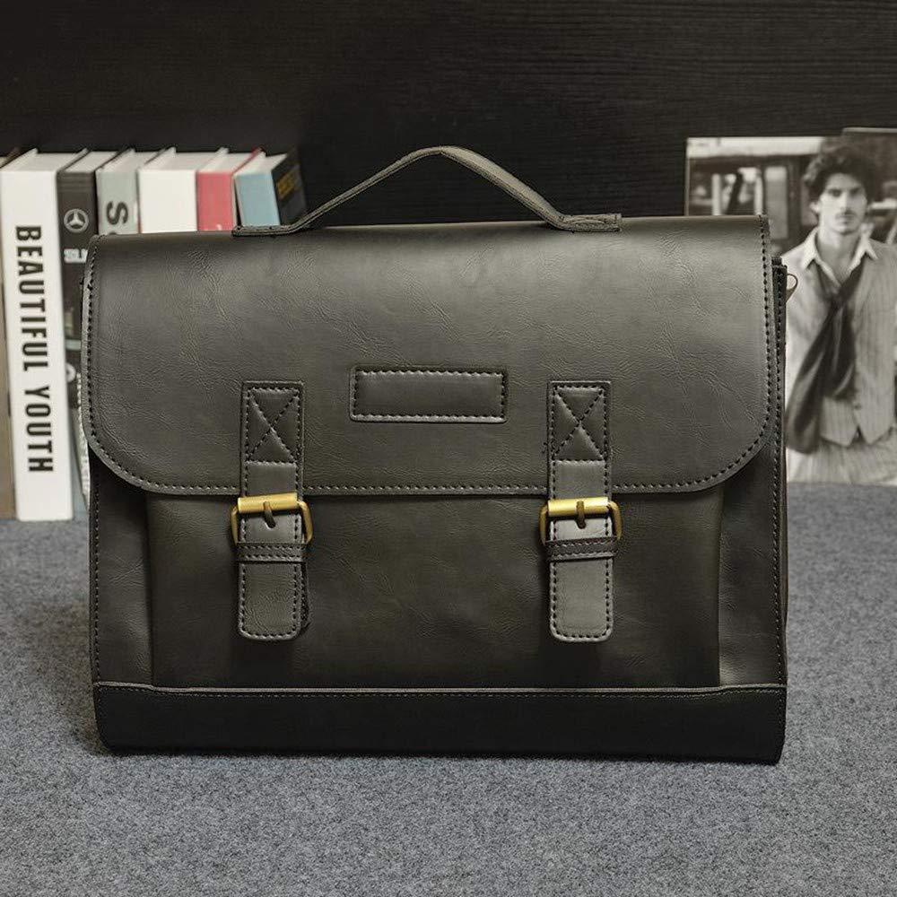Lianaic Laptoptasche Pu Leder Aktentasche Laptop Tasche Männer Geschäft Schulter Messenger Tasche Computer Notebook Aktentasche