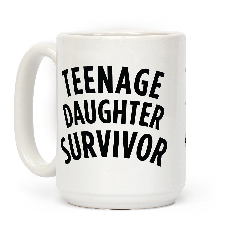 Teenage娘Survivorホワイト15オンスセラミックコーヒーマグby LookHUMAN B073Z43HJ9