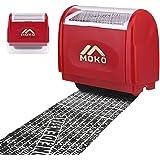 MoKo Sello Personalizado de Tipo de Rodillo, Sello Privado de Protección de Identidad, Sello Autoentintable…