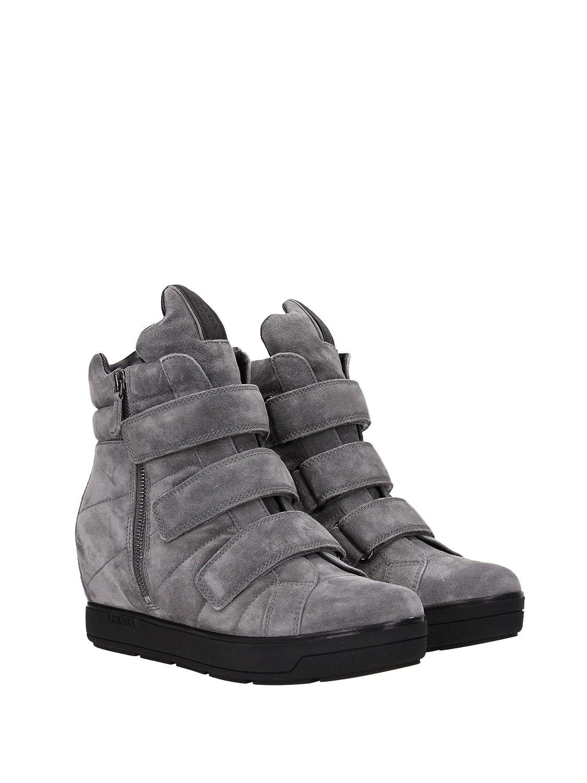 6b74f789d3d3 Prada 3091 G Sneaker Women Grey Internal Wedge Suede Shoe Sport Shoes Wo  Grey Size  4  Amazon.co.uk  Shoes   Bags