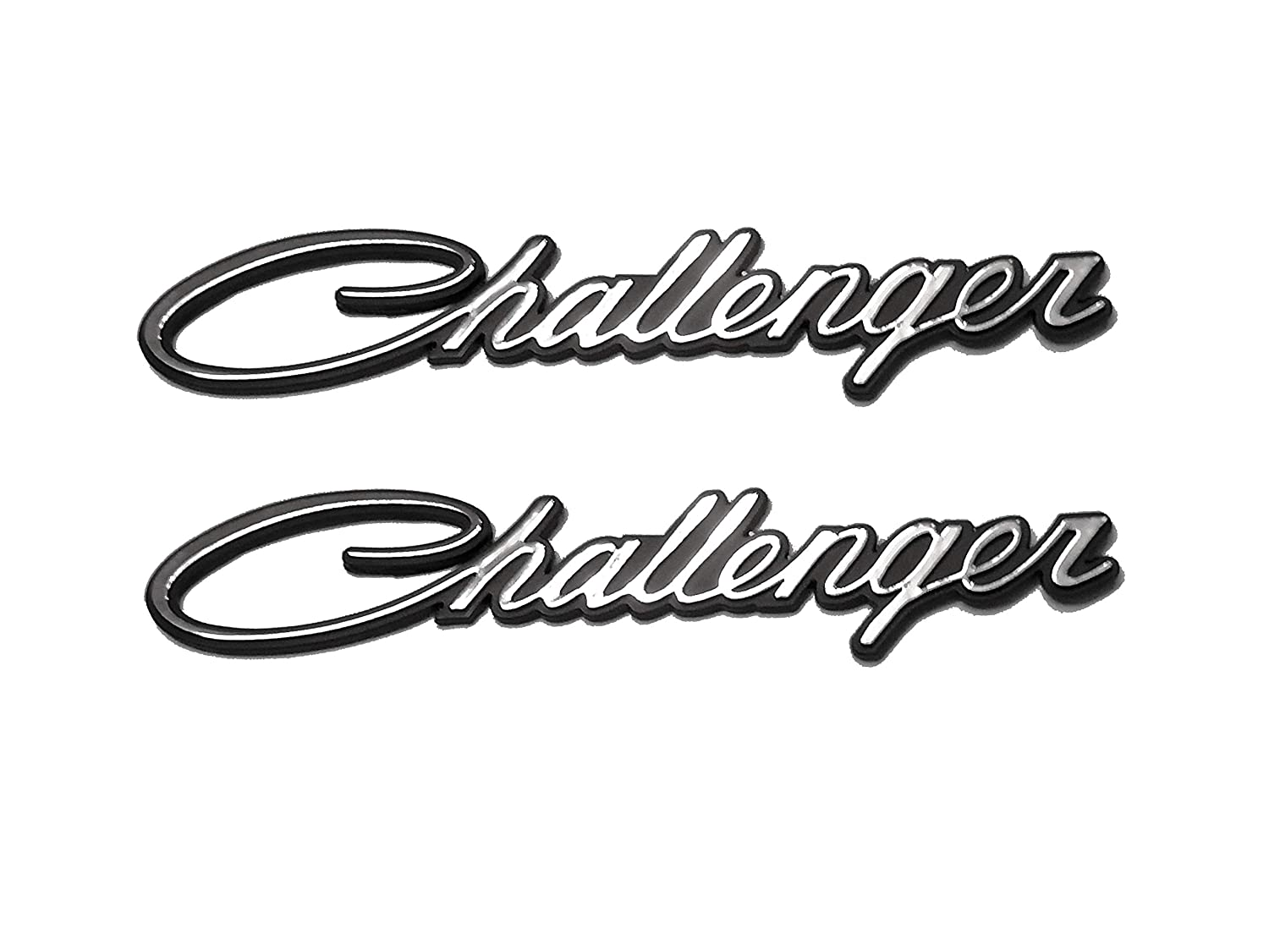 3D Badges Decal embelms for Dodge Chrysler Mopar Challenger 2PCS Replacement Challenger Nameplate Emblems Green