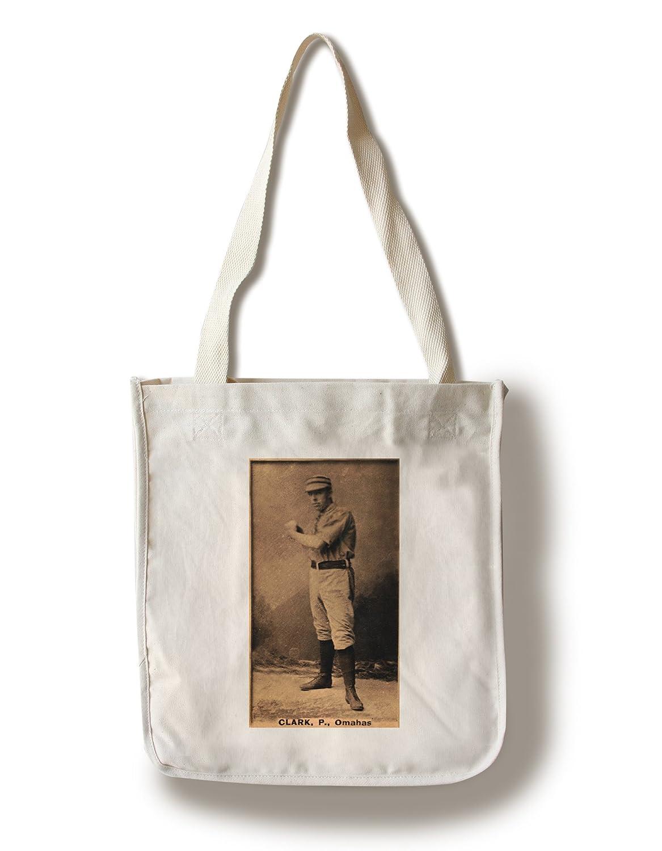 Omaha Minor League – クラーク – 野球カード Canvas Tote Bag LANT-23480-TT Canvas Tote Bag  B01841SX00
