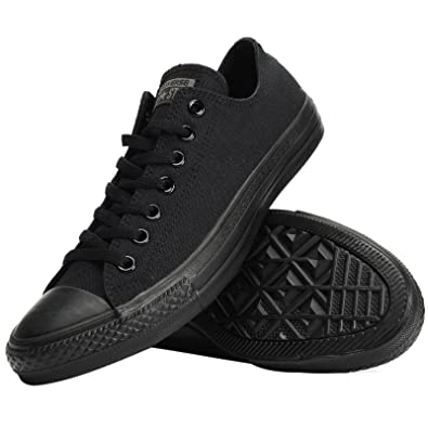 3a3b123df9e Converse Chuck Taylor All Star Lean Ox Mens Trainers Black Black - 4 UK