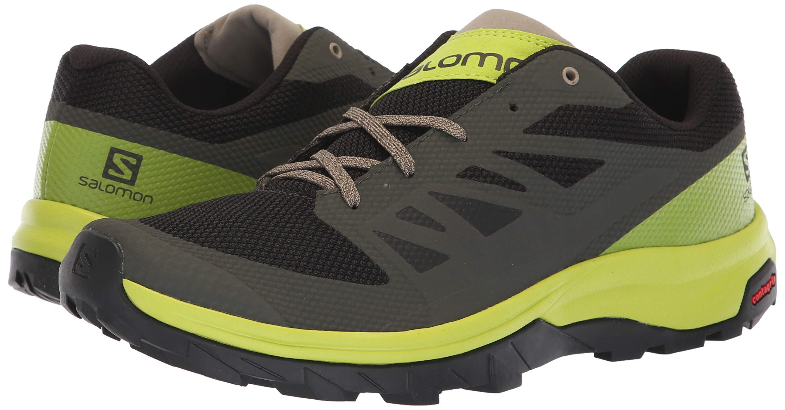 salomon men's outline low gtx hiking shoe magnet xr