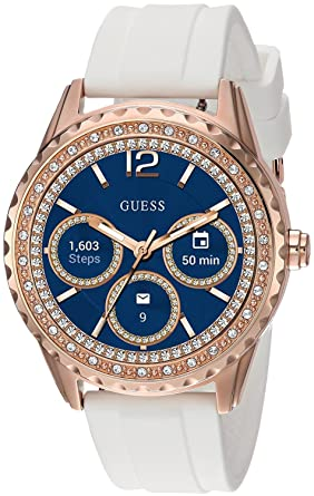 0b64e1def98f Amazon.com  GUESS Women s Stainless Steel Android Wear Touch Screen ...