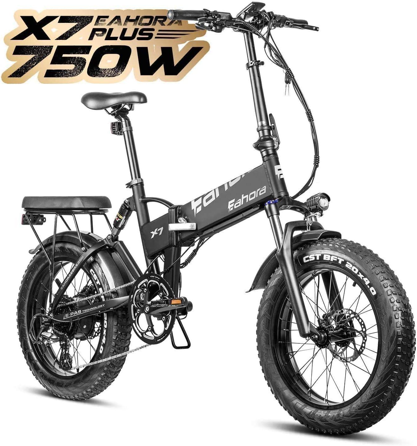 Eahora X7 Plus 750W 4.0 Fat Tire Folding Electric Bicycle