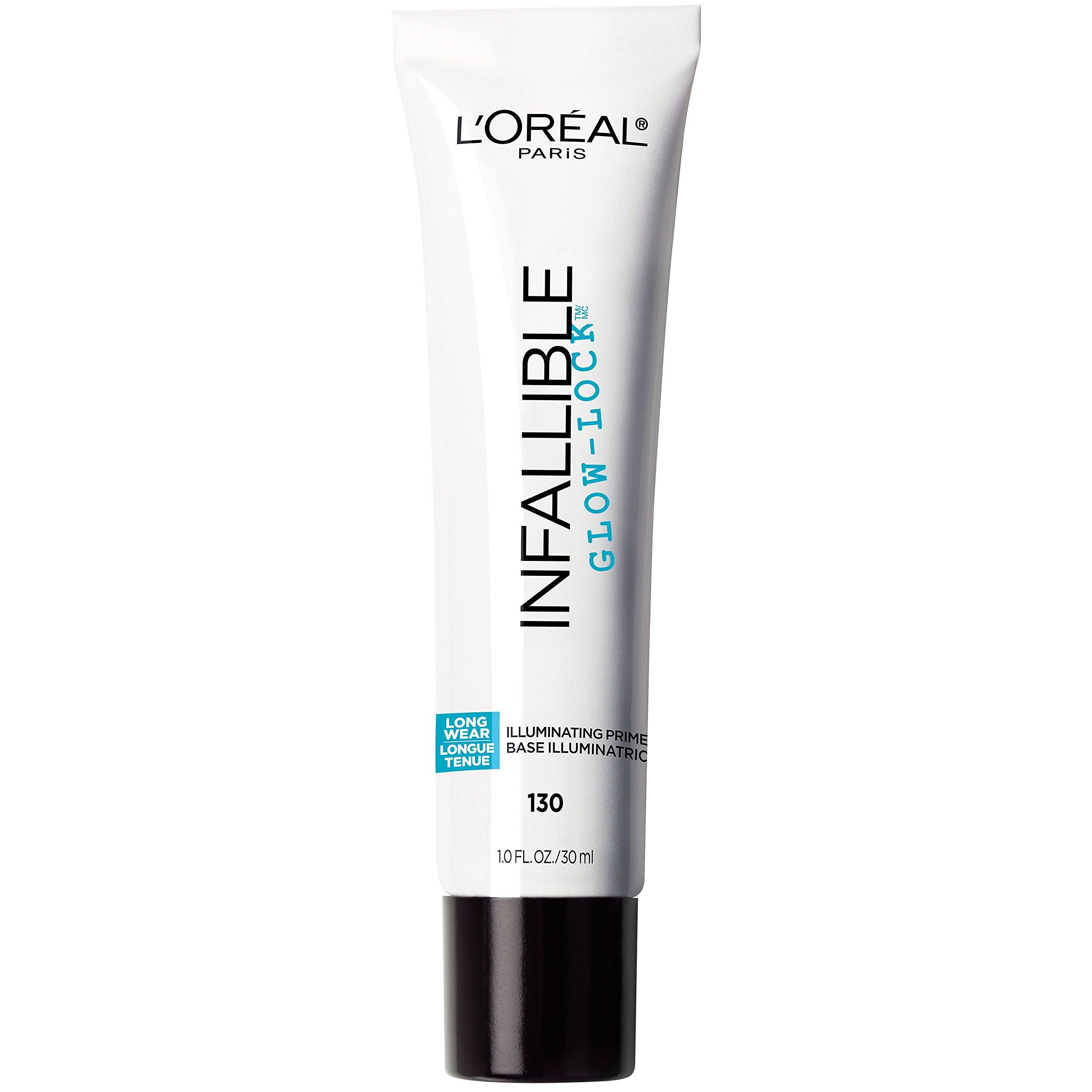 L'Oreal Paris Makeup Infallible Pro Glow-Lock Longwear Illuminating Face Primer, 1 fl. oz.