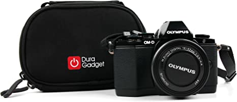 DURAGADGET Portable with Detachable Shoulder Strap Compatible with The Olympus OM-D E-M5 Mark II Water-Resistant Camera Carry Case