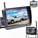 AMTIFO A7 HD 1080P Digital Wireless Backup Camera with 7 Inch DVR Monitor 2021 Newest Version High-Speed Rear View Observatio
