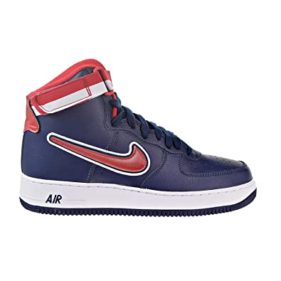 wholesale dealer eb465 2f1cb Image Unavailable. Image not available for. Color  NIKE Men s Air Force 1  High 07 LV8 Sport, Midnight Navy University RED,