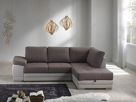 Divano letto angolare mod. VENEZIA con chaise lounge dx bicolor ...